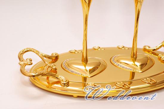 Бокалы «Золотые сердца»