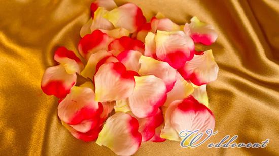 Лепестки «Малиновые с желтым»