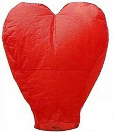 Небесный фонарик «Красное сердце»