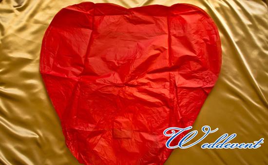 Небесный фонарик «Красное сердце» 3D