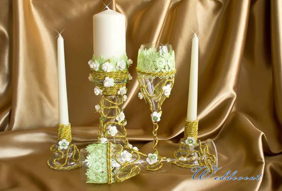 Бокалы и свечи «Дуновение весны»