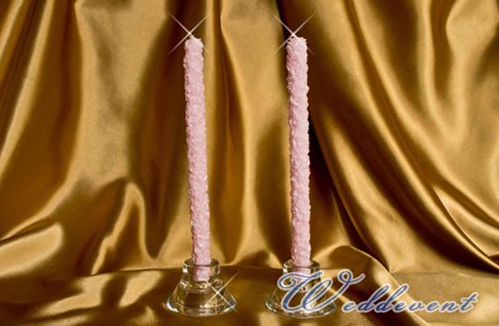 Свечи родительские «Розовые розы» малые