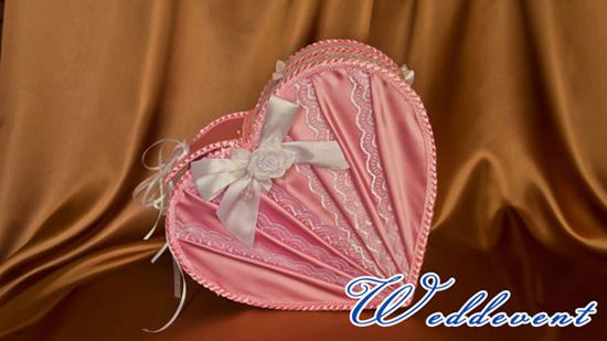 Сундучок для денег «Сердце» розовый