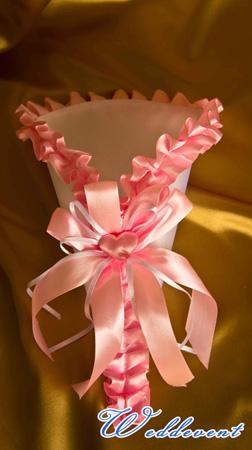 Кулечки для лепестков роз, розовые