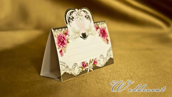 Банкетная карточка «Серебряное сердце»